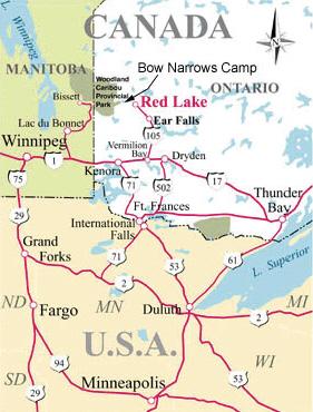 red lake ontario map Red Lake Ontario Fishing Camp Access Is Ultimately Boat In red lake ontario map